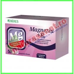 Magneziu + B6 50+10 comprimate - Beres - www.naturasanat.ro