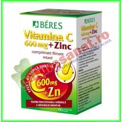 Vitamina C 600 mg + Zinc 60 comprimate - Beres - www.naturasanat.ro