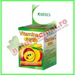 Vitamina C Junior 30 comprimate masticabile - Beres - www.naturasanat.ro