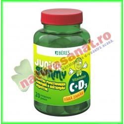 Vitamina C + D3 Junior Gummy 20 comprimate gumate - Beres - www.naturasanat.ro