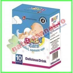 Baby Care Delicious Drink 10 plicuri - Sprint Pharma - www.naturasanat.ro