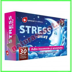 Stress Away 30 capsule - Sprint Pharma - www.naturasanat.ro