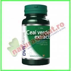 Ceai Verde Extract 30 capsule - DVR Pharm - www.naturasanat.ro