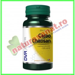 Carbo Chitosan 30 capsule - DVR Pharm - www.naturasanat.ro