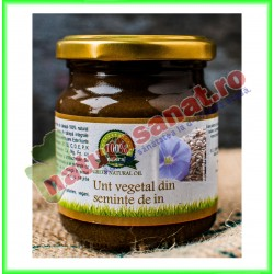 Unt Vegetal din Seminte de In 200 g - Carmita - www.naturasanat.ro