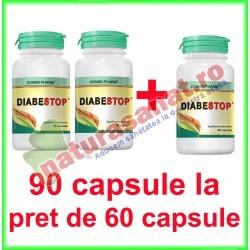 Diabestop PROMOTIE 90 capsule la pret de 60 capsule - Cosmo Pharm - www.naturasanat.ro