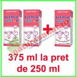 Alergo Junior Sirop PROMOTIE 375 ml la pret de 250 ml - Cosmo Pharm - www.naturasanat.ro