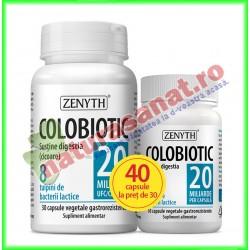 Colobiotic PROMOTIE 40 capsule la pret de 30 capsule - Zenyth - www.naturasanat.ro