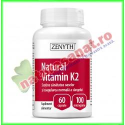 Natural Vitamin K2 60 capsule - Zenyth - www.naturasanat.ro