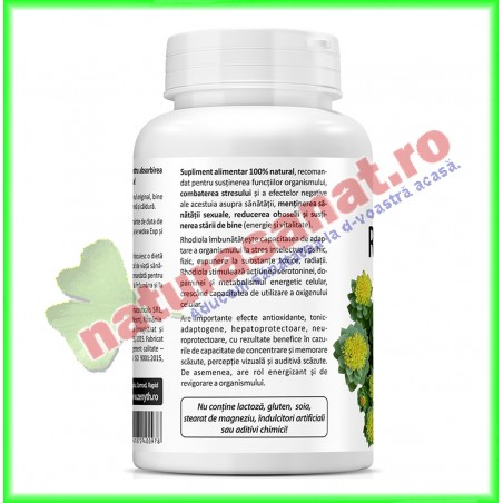 Rhodiola Extract 60 capsule - Zenyth - www.naturasanat.ro