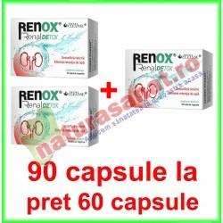 Renox Renal Detox 90 capsule la pret de 60 capsule vegetale - Cosmo Pharm - www.naturasanat.ro