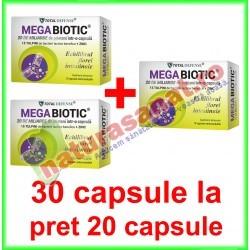 MegaBiotic 26 miliarde UFC PROMOTIE 30 capsule la pret de 20 capsule - Cosmo Pharm - www.naturasanat.ro