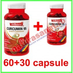 Curcumin 95 PROMOTIE 60+30 capsule - Ad Natura - Adserv / Ad Serv - www.naturasanat.ro