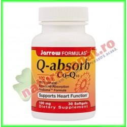 Q Absorb 100mg (CoQ-10) 30 capsule gelatinoase moi - Jarrow Formulas - Secom