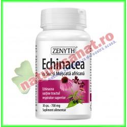 Echinacea cu Soc si Muscata Africana 30 capsule - Zenyth - www.naturasanat.ro