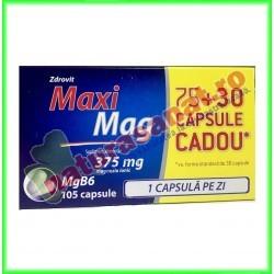MaxiMag 375 mg 75+30 capsule - Zdrovit - www.naturasanat.ro