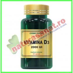 Vitamina D3 2000 UI 30 capsule - Cosmo Pharm