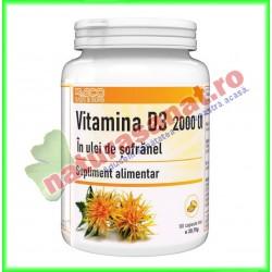 Vitamina D3 2000 UI in Ulei de Sofranel 90 capsule moi - Radu & Sons / RACO - www.naturasanat.ro