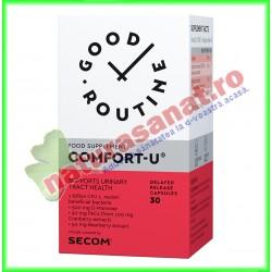 Comfort-U 30 capsule vegetale  - Good Routine - Secom - www.naturasanat.ro