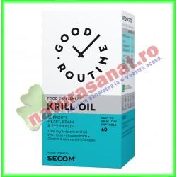 Krill Oil 60 capsule vegetale  - Good Routine - Secom - www.naturasanat.ro