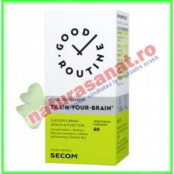 Train-Your-Brain 60 capsule vegetale  - Good Routine - Secom - www.naturasanat.ro