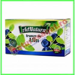 Ceai de Afin Frunze 20 plicuri - Ad Natura - Adserv - www.naturasanat.ro