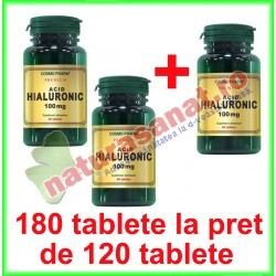 Acid Hialuronic 100 mg PROMOTIE 180 tablete la pret de 120 tablete - Cosmo Pharm - www.naturasanat.ro