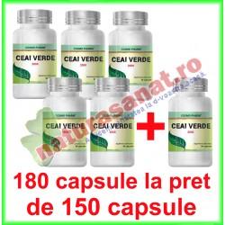 Ceai Verde Extract PROMOTIE 180 capsule la pret de 150 capsule - Cosmo Pharm