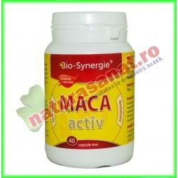 Maca Activ 400mg 40 capsule - Bio Synergie - www.naturasanat.ro