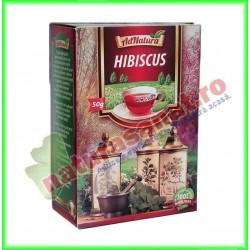 Ceai Hibiscus Flori 50 g - Ad...