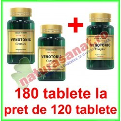 Venotonic Complex PROMOTIE 180 tablete la pret de 120 tablete - Cosmo Pharm - www.naturasanat.ro
