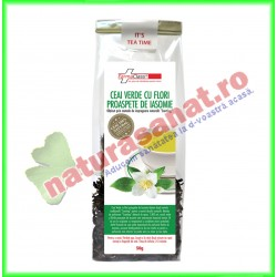 Ceai Verde si Flori de Iasomie 50 g - Farmaclass - www.naturasanat.ro