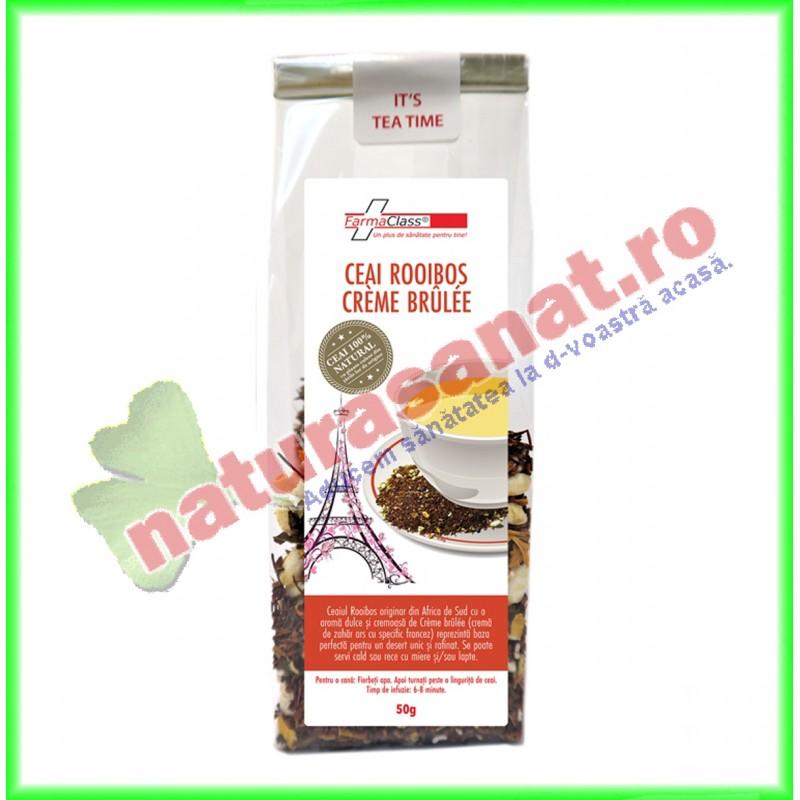 Ceai Rooibos Creme Brulee 50 g - Farmaclass - www.naturasanat.ro