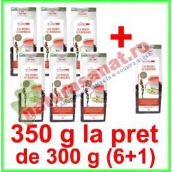 Ceai Rooibos cu Lemongrass PROMOTIE 350 g la pret de 300 g (6+1) - Farmaclass - www.naturasanat.ro