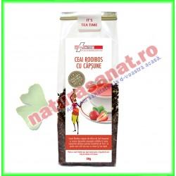 Ceai Rooibos cu Capsune 50 g - Farmaclass - www.naturasanat.ro