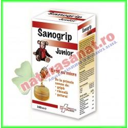 Sanogrip Junior Sirop 100 ml - Farmaclass - www.naturasanat.ro