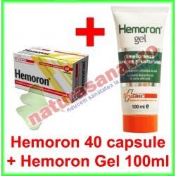 Hemoron 40 capsule + Hemoron Gel 100 ml - Farmaclass - www.naturasanat.ro