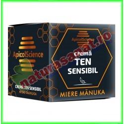 Crema Cu Miere de Manuka pentru Ten Sensibil 50 ml - Apicolscience - www.naturasanat.ro