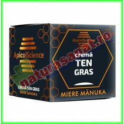 Crema Cu Miere de Manuka pentru Ten Gras 50 ml - Apicolscience - www.naturasanat.ro
