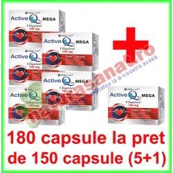 Active Q10 Mega Ubiquinol PROMOTIE 180 capsule la pret de 150 capsule (5+1) - Cosmo Pharm - www.naturasanat.ro