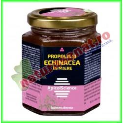 Propolis si Echinacea cu Miere 200 ml - Apicolscience - www.naturasanat.ro