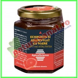 Echinacea si Grapefruit cu Miere 200 ml - Apicolscience - www.naturasanat.ro