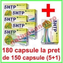 5 HTP PROMOTIE 180 capsule la pret de 150 capsule (5+1) - Cosmo Pharm - www.naturasanat.ro - 0722737992