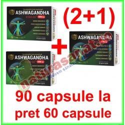 Ashwagandha KSM-66 PROMOTIE 90 capsule la pret de 60 capsule vegetale - Cosmo Pharm - www.naturasanat.ro