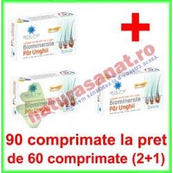 Biominerale par si unghii PROMOTIE 90 comprimate la pret de 60 comprimate (2+1) - Helcor - www.naturasanat.ro - 0722737992
