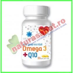 Omega 3 + Q10 30 comprimate - Helcor - www.naturasanat.ro - 0722737992