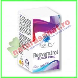 Resveratrol 60 comprimate - Helcor - www.naturasanat.ro - 0722737992