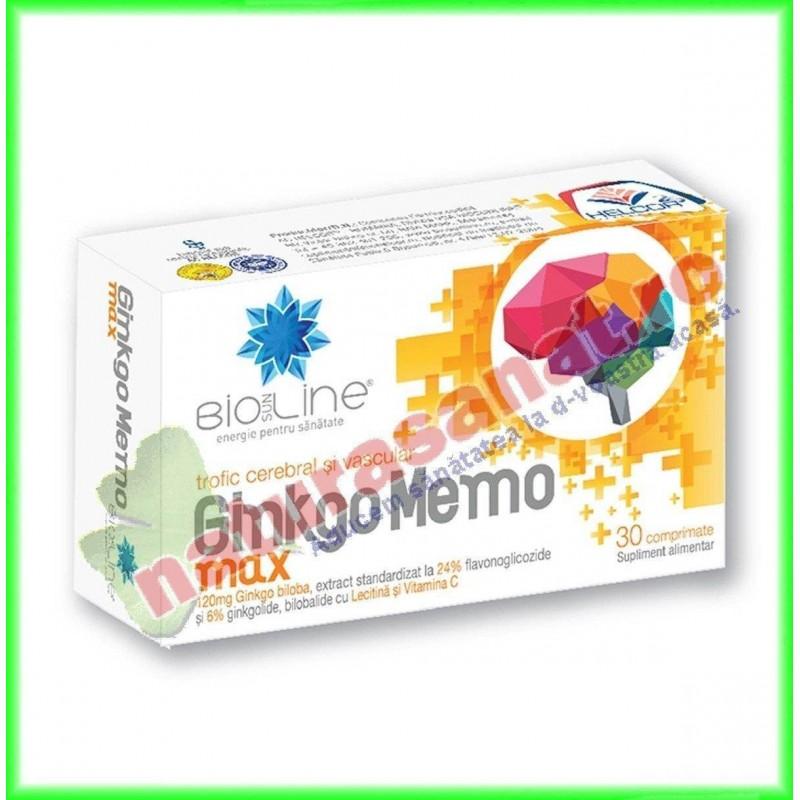 Ginkgo Memo Max 30 comprimate - Helcor - www.naturasanat.ro - 0722737992