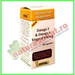 Omega 3 si Omega 6 Vegetal 900 mg 40 capsule moi - Hofigal