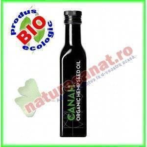 Ulei canepa BIO presat la rece (Canah Hemp Oil) 250 ml - Canah International